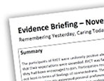RYCT evaluation an article by David Woodhead